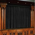 Vintage Style Pole Pocket Black 100% cotton Velvet curtain Theater/Stage Panel - 12Wx9H FT