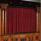 Vintage Style Pole Pocket Burgundy 100% cotton Velvet curtain Theater/Stage Panel - 12Wx9H FT