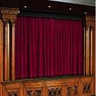 Vintage Style Pole Pocket Grapes 100% cotton Velvet curtain Theater/Stage Panel - 12Wx9H FT