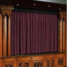 Vintage Style Pole Pocket Plum 100% cotton Velvet curtain Theater/Stage Panel - 12Wx9H FT