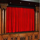 Vintage Style Pole Pocket Ruby Red 100% cotton Velvet curtain Theater/Stage Panel - 12Wx9H FT