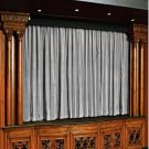 Vintage Style Pole Pocket Silver 100% cotton Velvet curtain Theater/Stage Panel - 12Wx9H FT
