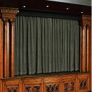 Vintage Style Pole Pocket Stone 100% cotton Velvet curtain Theater/Stage Panel - 12Wx9H FT