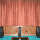 New Carnation 100% Blackout Home Theater Velvet Lined Curtain 90 by 90 Inches