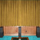 New Gold 100% Blackout Home Theater Velvet Lined Curtain 90 by 90 Inches