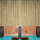 New Mocha 100% Blackout Home Theater Velvet Lined Curtain 90 by 90 Inches