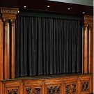 Vintage Style Pole Pocket Black 100% cotton Velvet curtain Theater/Stage Panel - 20Wx10H FT