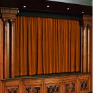 Vintage Style Pole Pocket Bronze 100% cotton Velvet curtain Theater/Stage Panel - 20Wx10H FT