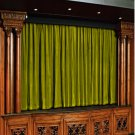Vintage Style Pole Pocket Lemon Grass 100% cotton Velvet curtain Theater/Stage Panel - 20Wx10H FT