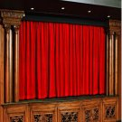 Vintage Style Pole Pocket Ruby Red 100% cotton Velvet curtain Theater/Stage Panel - 20Wx10H FT
