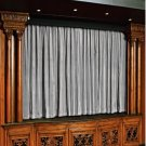 Vintage Style Pole Pocket Silver 100% cotton Velvet curtain Theater/Stage Panel - 20Wx10H FT