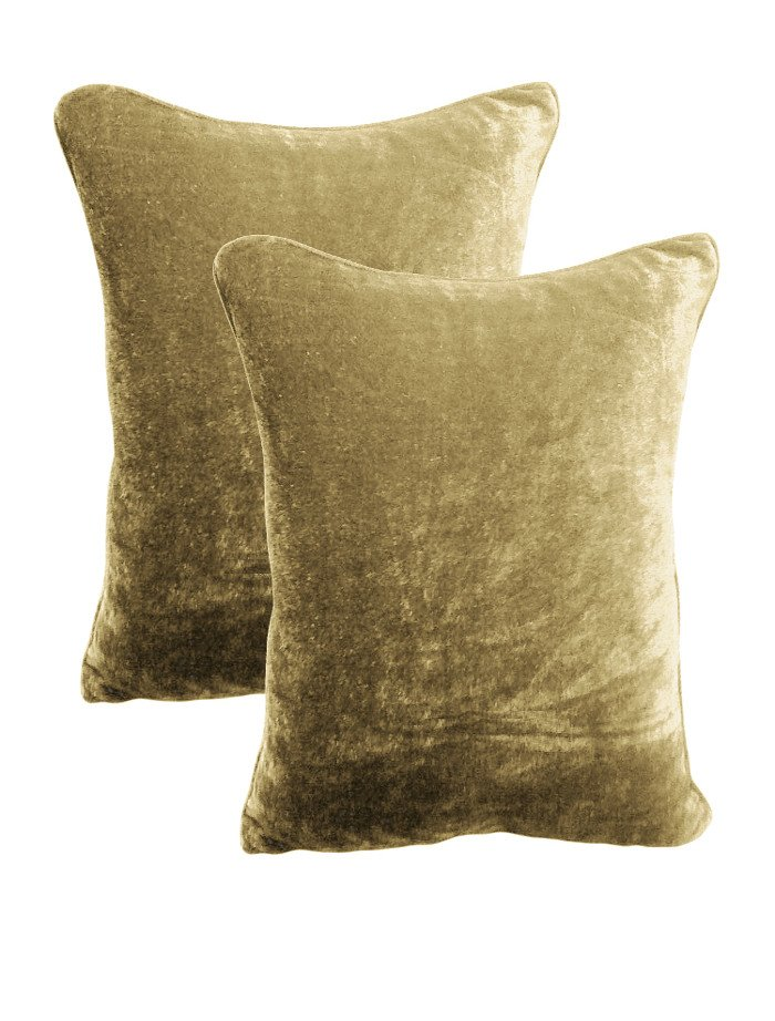 20 by 30 INCHES - 100% COTTON VELVET PILLOW COVERS FOR BEDROOM MOCHA