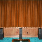 VINTAGE COTTON VELVET BLACKOUT WINDOW/DOOR LINED CURTAIN- BRONZE 66''W X 54''H