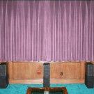 VINTAGE COTTON VELVET BLACKOUT WINDOW/DOOR LINED CURTAIN- LAVENDER 66''W X 54''H