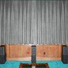 VINTAGE COTTON VELVET BLACKOUT WINDOW/DOOR LINED CURTAIN- SILVER 66''W X 54''H