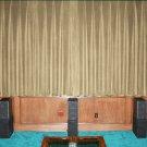 MOCHA-VINTAGE COTTON VELVET BLACKOUT WINDOW/DOOR LINED CURTAIN,66''W X 90''H