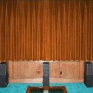 "BRONZE-VINTAGE COTTON VELVET BLACKOUT WINDOW/DOOR LINED CURTAIN,90''W X 72""H"