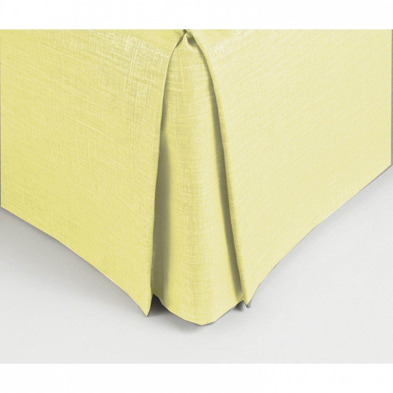"New Cal King Size 18"" Drop 100% Dupioni Silk Box Pleated Bedskirt/Valance - CREAM"