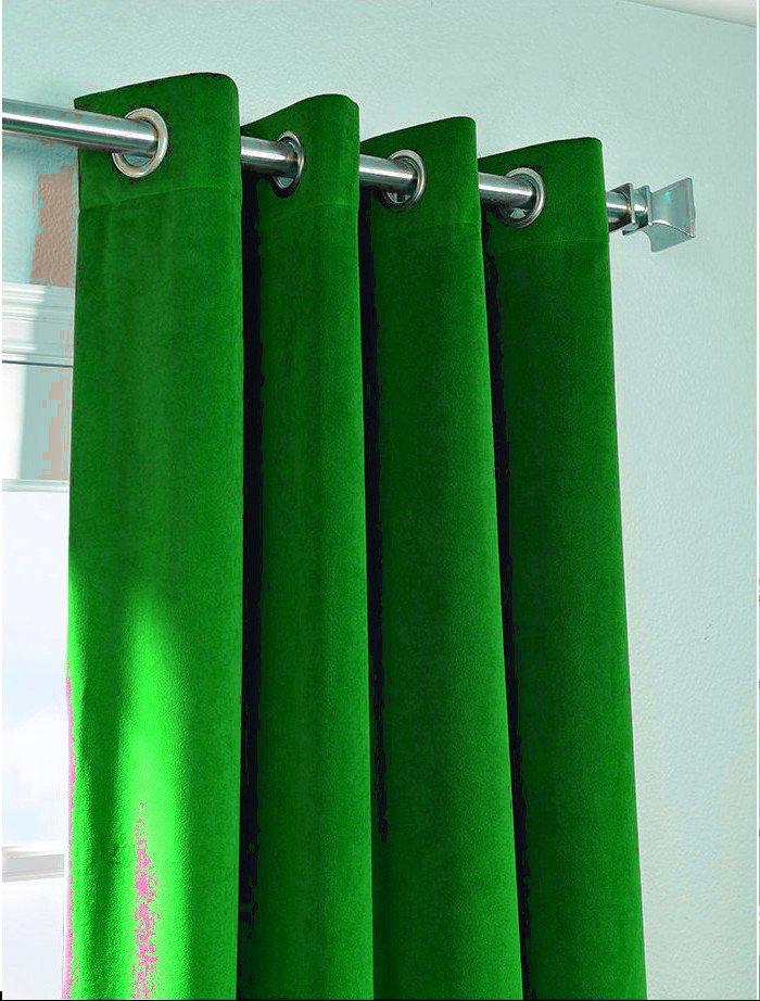 "SAGE GREEN - Vintage Blackout 100% Cotton Velvet Lined Curtain Long Door Panel-50""W X 144""L"