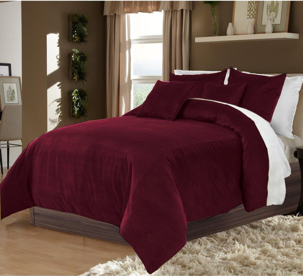 Grapes Twin/Twin XL 100% Velvet & Cotton Reversible Duvet Quilt Cover Set 3pcs
