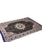 Traditional Medallion Persian/Oriental Area Chenille Carpet 5'X7' Rug Mat,Black