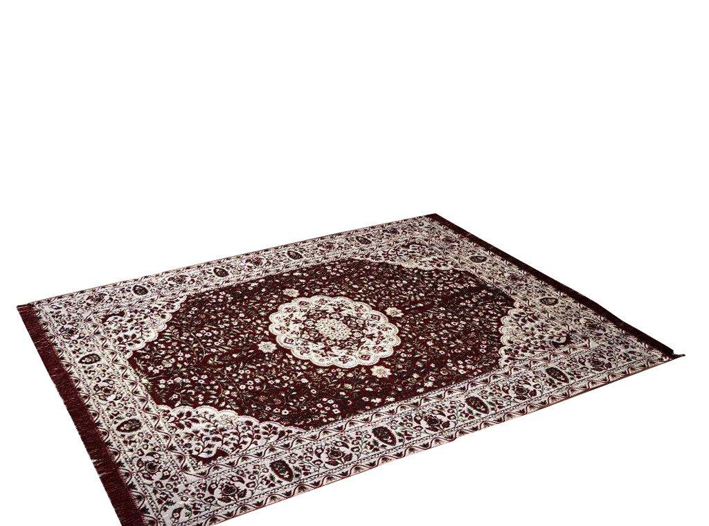 Traditional Medallion Persian/Oriental Area Chenille Carpet 5'X7' Rug Mat,Burgundy