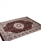 Traditional Medallion Persian/Oriental Area Chenille Carpet 5'X7' Rug Mat,Burgundy