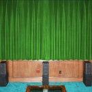 VINTAGE COTTON VELVET BLACKOUT WINDOW/DOOR LINED CURTAIN - SAGE GREEN 66''W X 72''H