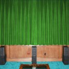 SAGE GREEN-VINTAGE COTTON VELVET BLACKOUT WINDOW/DOOR LINED CURTAIN,90''W X 54''H