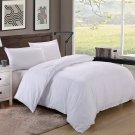 King/Cal King Size 600TC 100% Egyptian Cotton ultra soft Duvet Cover 3pcs Set ,White