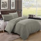 King/Cal King Size 600TC 100% Egyptian Cotton ultra soft Duvet Cover 3pcs Set ,Dark Grey