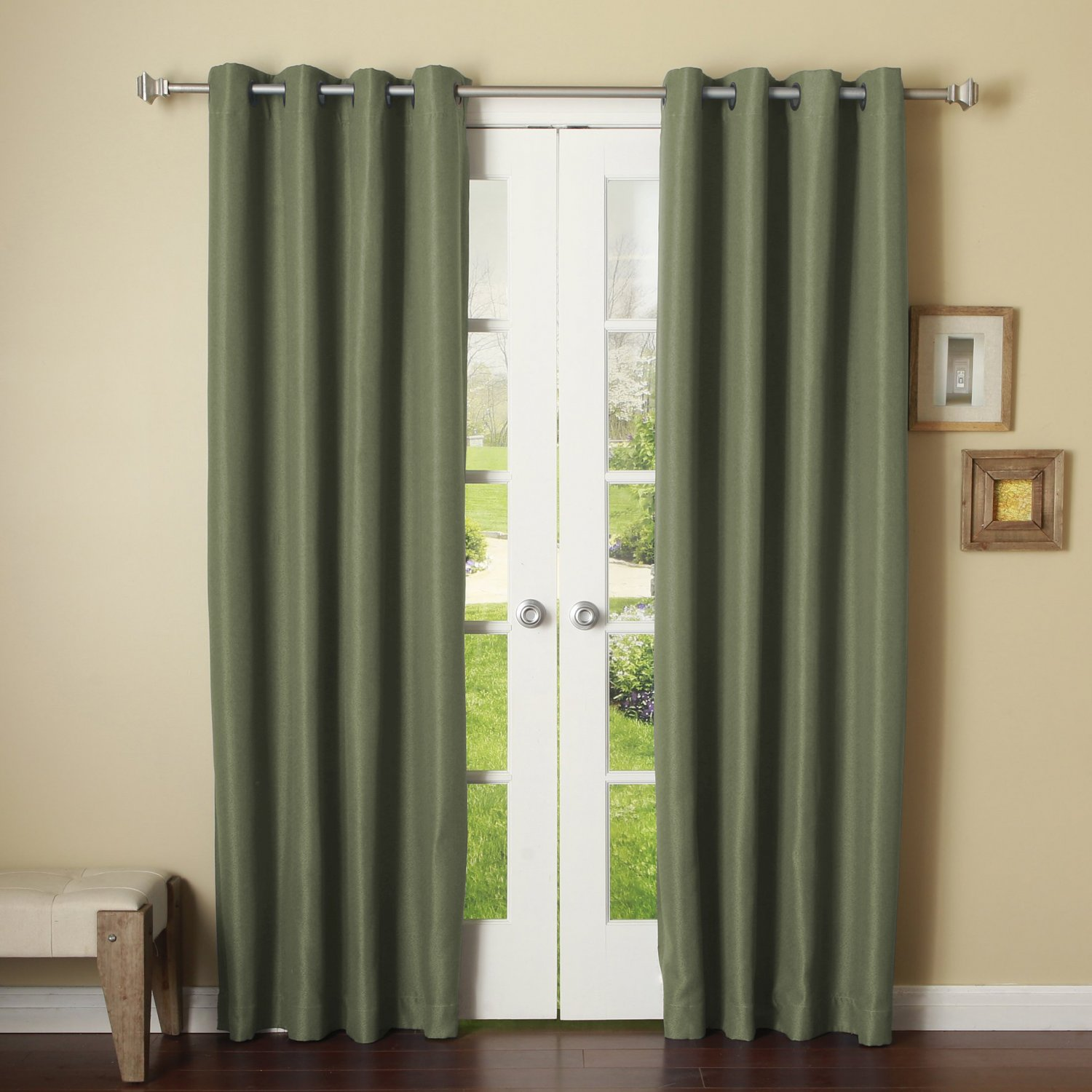 Light Grey 2 Panels Grommet Thermal Insulated Blackout Window Curtain Drape 46x84