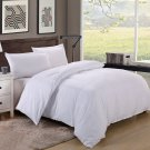 Twin/Twin XL Size 600TC 100% Egyptian Cotton ultra soft Duvet Cover 3pcs Set ,White