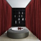 BURGUNDY Blackout Double Sided Velvet Curtain Privacy Room Divider Panel-9W by 9H ft