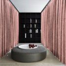 CARNATION Blackout Double Sided Velvet Curtain Privacy Room Divider Panel-9W by 9H ft