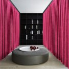 FUCHSIA Blackout Double Sided Velvet Curtain Privacy Room Divider Panel-9W by 9H ft