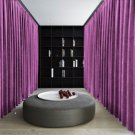 LAVENDER Blackout Double Sided Velvet Curtain Privacy Room Divider Panel-9W by 9H ft