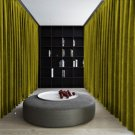 LEMON GRASS Blackout Double Sided Velvet Curtain Privacy Room Divider Panel-9W by 9H ft