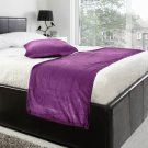 """20""""W X 50""""H   VELVET BED RUNNER SET   Scarf   Throw   with 2 cushion cover(20""""x20"""")   Lavender"""