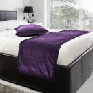 """20""""W X 95""""H   VELVET BED RUNNER SET   Scarf   Throw   with 2 cushion cover(20""""x20"""")   Berry"""