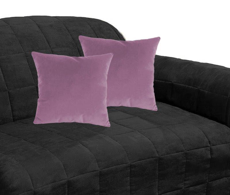"24x24"" | Suede Decorative Cushion Covers Thow Pillow Covers 2PCs Shams | Mauve"