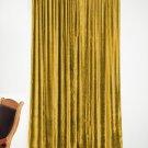 VINTAGE COTTON VELVET BLACKOUT WINDOW/DOOR LINED CURTAIN-GOLD 54''W X 63''H