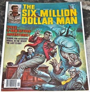 Six Million Dollar Man #4 1977 (Magazine/ Paperback) in VF Condition