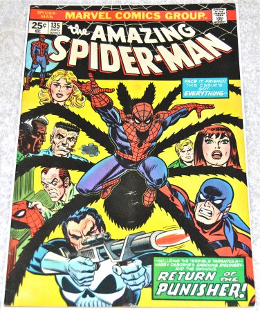 Amazing Spider-Man #135 1974 (1963 Series) 2nd Full Punisher