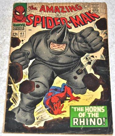 Amazing Spider-Man #41 1966 (1963 Series) 1rst Rhino in Fair Condition