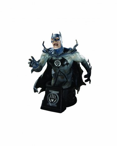 DC Direct Heroes of the DC Universe: Blackest Night Black Lantern Batman Bust #1143 of 3500