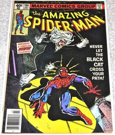 Amazing Spider-Man #194 1979 (1963 Series) 1rst Black Cat