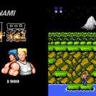 Konami's Contra NES 1988 Cartridge and Sleeve