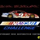 Bill Elliott's NASCAR Challenge 1991 NES Cartridge and Sleeve