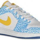 Air Jordan 1 Low White/Chlorine Blue-Sonic Yellow West Side